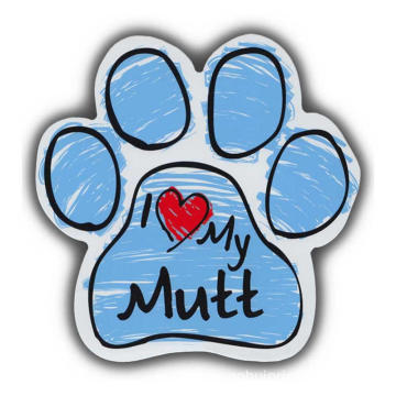 Dog Paw Print Magnet Die Cut Car Sticker