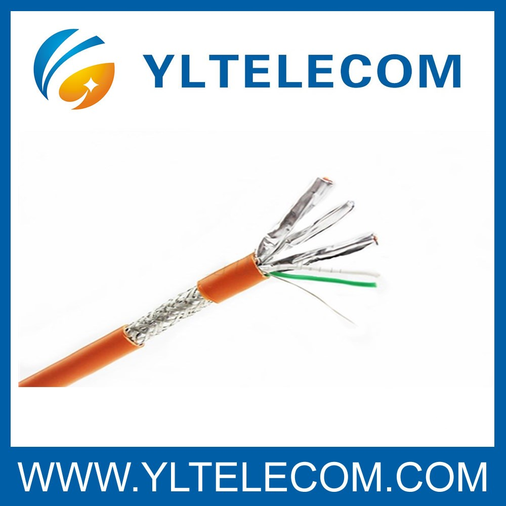 Cat.6A SFTP Transmission Shielded Cable Copper Braiding