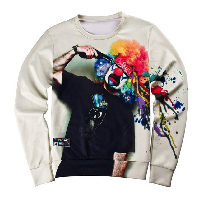 custom 3d sweatshirts mens full printing sweatshirt
