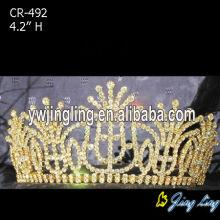Gold Rhinestone Crowns For Queen