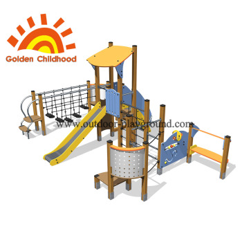 Yellow Slide Outdoor Playground Equipment For Sale