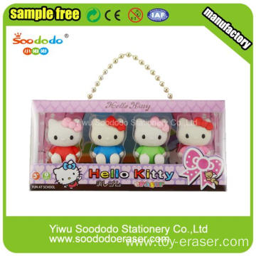 PVC packing Hello Kitty Shaped Eraser For Children