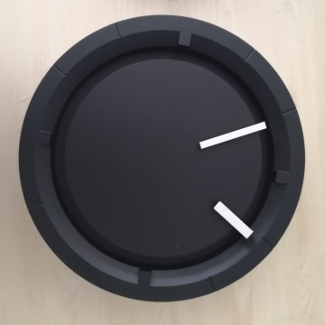 Best Quality for Decorative Wall Clocks 12 Inch Black Wall Clock Patented Item export to Saudi Arabia Supplier