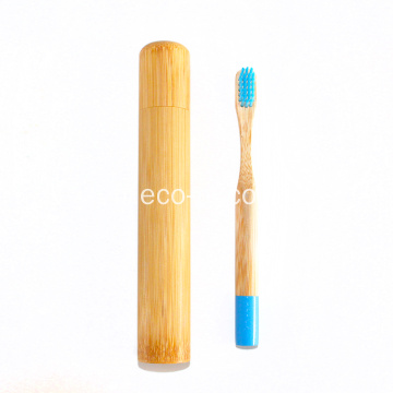 Tube de paquet de brosse à dents en bambou naturel portable