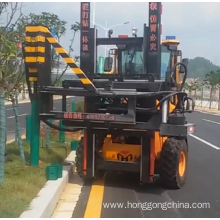 Multifunctional Highway guardrail Piling machine