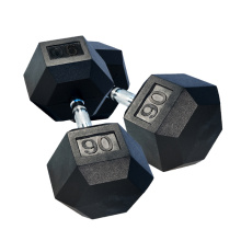 20 Years Factory for Rubber Dumbbells 90LB Black Rubber Hex Dumbbell supply to Spain Supplier