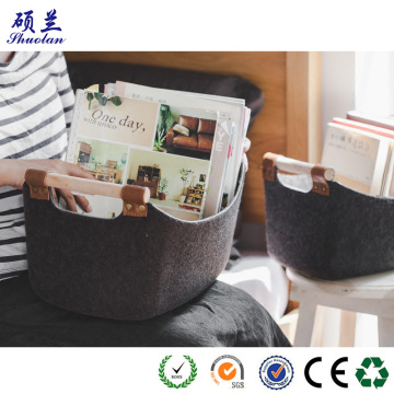 Hot sale 100% polyester felt storage bag basket