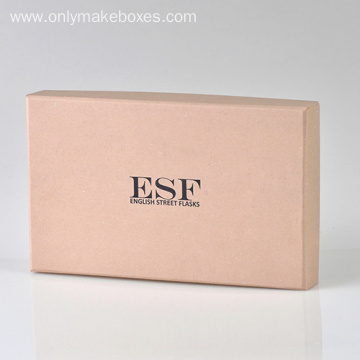 Custom Black Logo Kraft Paper Boxes With Lid