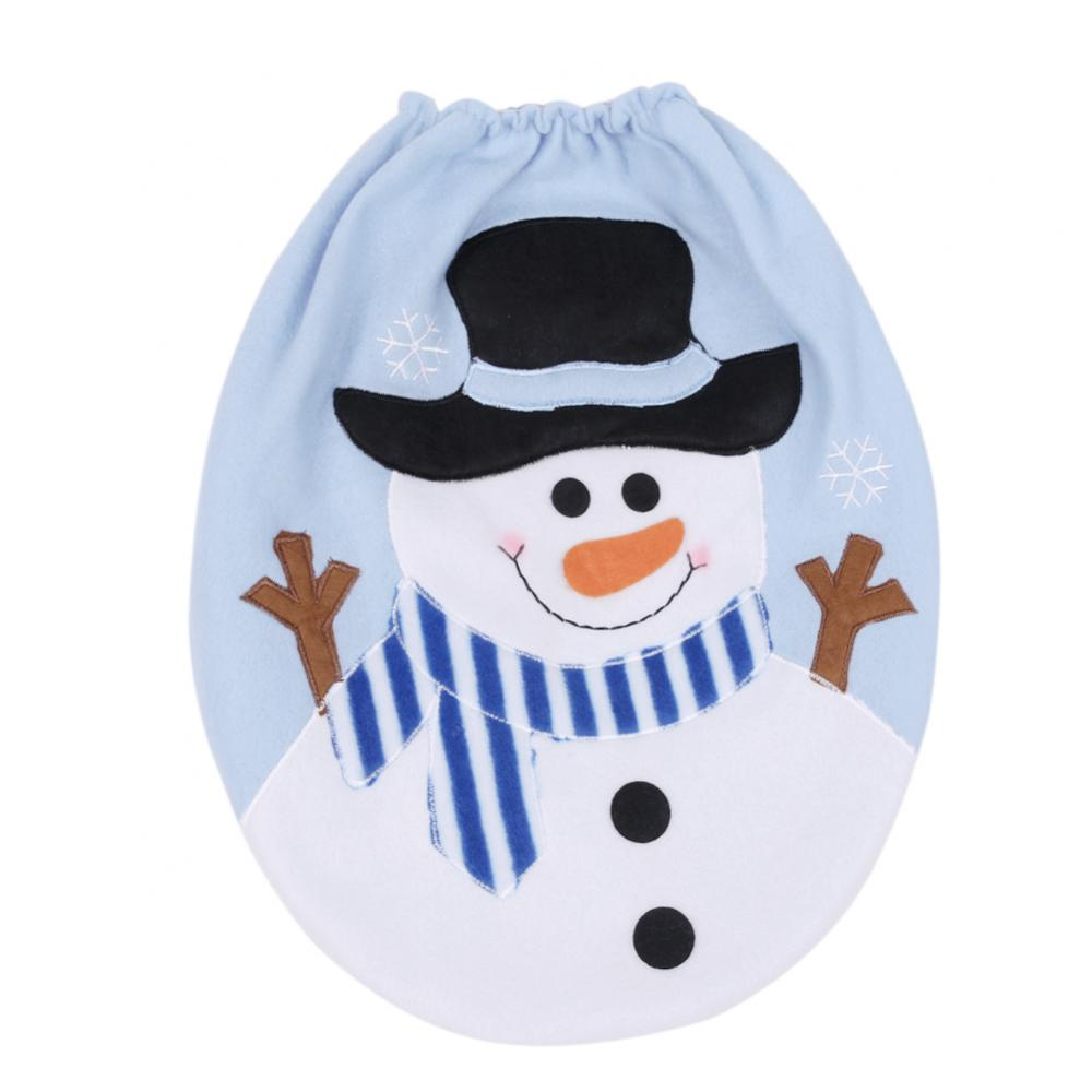 Snowman Christmas Rug Set and Shower