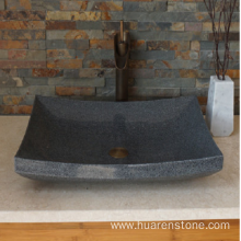 OEM for Natural Stone Sink G654 dark grey granite polished vessel sink supply to France Manufacturer