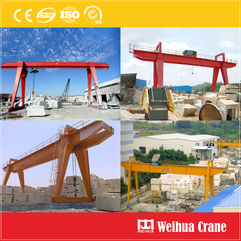 Gantry Crane In Stone Factory