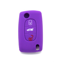 silicone promotional waterproof car key case for Peugeot