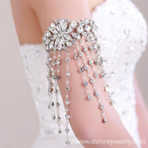 CZ Upper Arm Bracelet Women Party Wear Armlet Tassel Jewelry