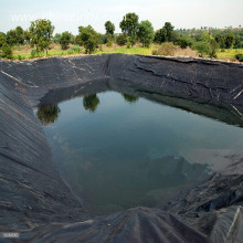 Cheaper price HDPE seacucumber pond geomembrane