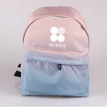 Fashion Beautiful Gradient Backpack Girl School Bags 2018