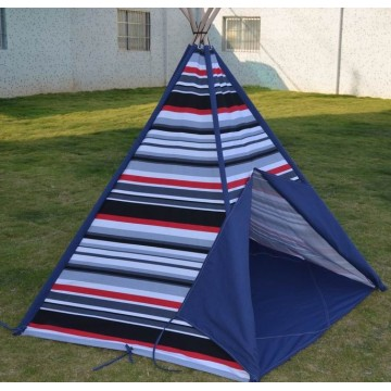 China Manufacturer for Kids Tent Stripe Canvas Teepee and Wooden Poles kids tent supply to Guatemala Exporter