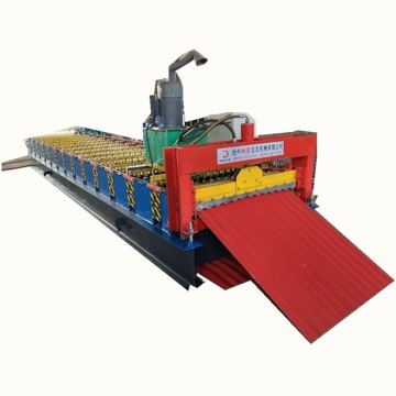 Single layer metal corrugated sheet roll forming machine
