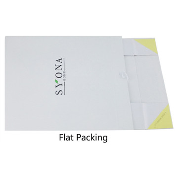 White Ribbon Elegant Flower Folding Gift Paper Box