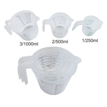 Plastic Angled Measuring Cups Set