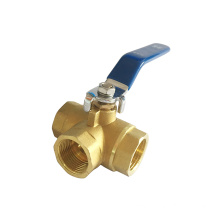 Hot forging 3 way brass ball valve