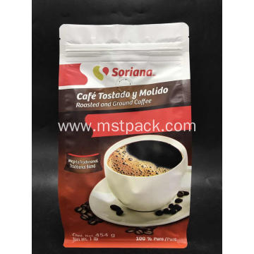 16OZ Flat Bottom Box Pouch Coffee Bag
