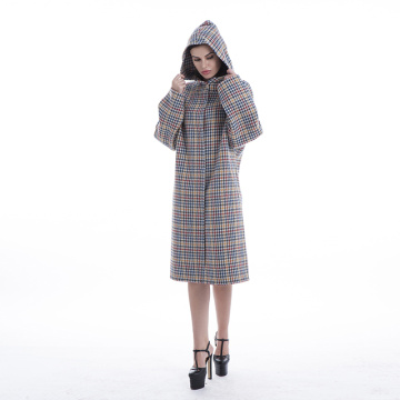 Cashmere coat color plaid