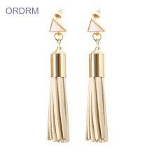 Factory Price for Tassel Earrings Handmade Womens Long Leather Tassel Earrings supply to Portugal Wholesale