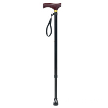 Aluminium Folding Cane with Wooden Handle