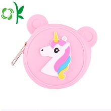 Lovely Cartoon Animal Zip Coin Custom Silicone Purse