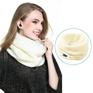 Schal Blue tooth Warm Design Knitted Neck Earphone