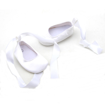 Back Strap With Satin Lace Christening Baby Shoes