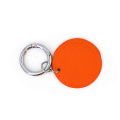Custom Promotional Pu Leather Keychain with Sliver Keyring
