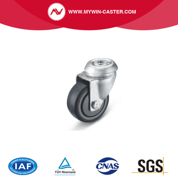 Bolt Hole Swivel TPE Institutional Caster
