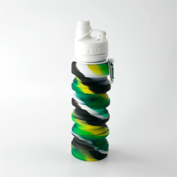 Plastic Lids Silicone Collapsible Sports Water Bottle