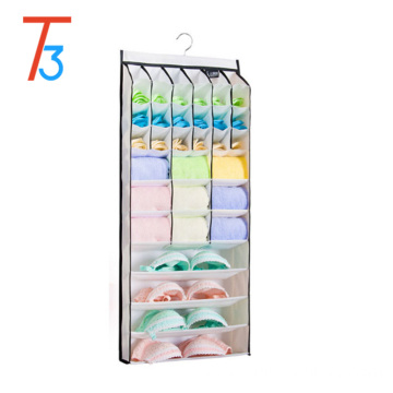 Pinkycolor socks underwear towel hanging closet organizer