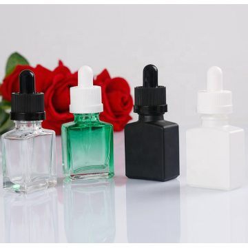 30ml colorful glass square dropper bottles