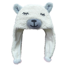 Cute plush animal llama winter hat
