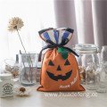 Orange Pumgkin Design Halloween Plastic Gift Bags