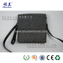 Grey color felt single shoulder bag