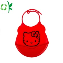 Printing Cartoon Animal Shape Silicone infant bibs