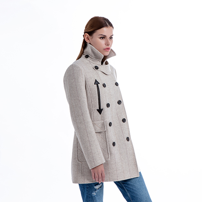 Pure Double-breasted Cashmere Overcoat