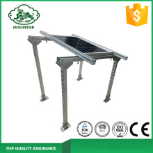 Solar Panel Bracket Mounting System On Concrete Base