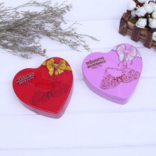 Quality for Purple Candy Tin Box Heart Shape Six Chocolate Packaging Candy Boxes export to France Exporter