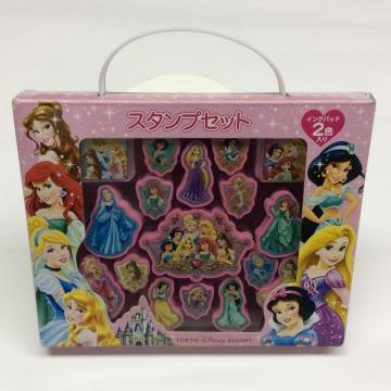 plastic Disney princess portable stamp set