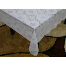 wash Printed pvc lace tablecloth by roll