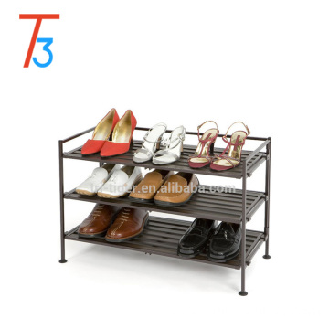 hot selling Smart Home furniture for living room multifunct wood stainless steel shoe rack
