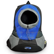 Blue Small PVC and Mesh Pet Backpack
