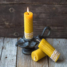 Personlized Products for Organic Beeswax Candles Hand Rolled Natural Beeswax Tall Pillar Candle supply to India Exporter