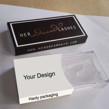 Custom mink eyelash box packaging