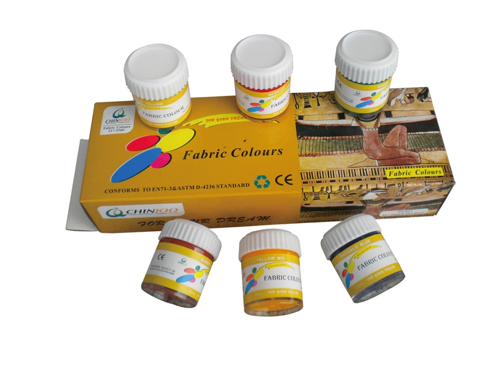 12 Colors Fabric Paint Set